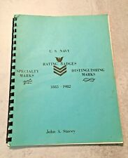 1982 Rare Oop Book Us Navy Ratings Badges Specialty Distinguishing Marks Stacey