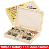 100X Rotary Accessory Grinding Tool Set Polishing Cutting Bit Kit for Dremel New