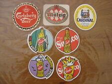 Lot de 7 SOUS BOCK BIERE Carlsberg Mutzig Cardinal Sinalco BEER BIER CERVEZA