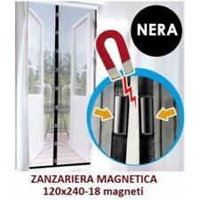 TENDA ZANZARIERA MAGNETICA CON CALAMITA 120x240 CM NERA X PORTA BALCONE FINESTRA
