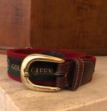 GOLF & Green fabric and leather  men belt sz 34/85