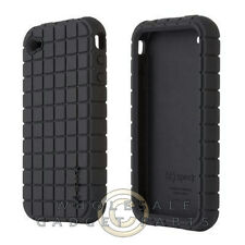 Speck Apple iPhone 4/i4S Rubber Skin Case Black Cover Shell Protector Guard
