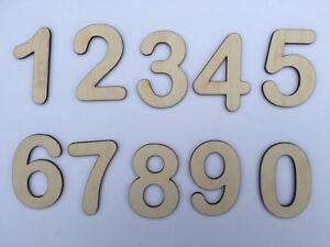 Single Laser Cut Wooden Number, Arial Round Font, Crafting Supplies, One Number
