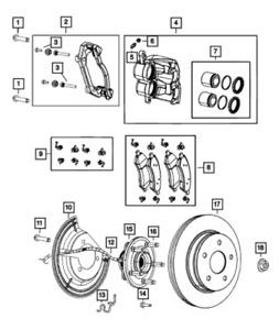 2019 - 2021 Brake Rotor, Front Left or Right Factory Mopar Ram 1500 - NEW OEM