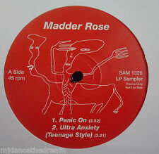 "MADDER ROSE ~ Panic On ~ 4 TRACK LP SAMPLER 12"" Single PS PROMO"