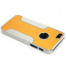 New Yellow Aluminum and Plastic Hybrid Hard Case For iPhone 5 5S SE