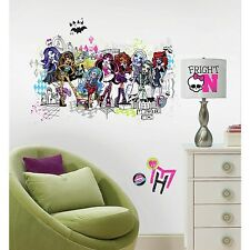 MONSTER HIGH GROUP Giant WALL DECALS Big Girls Room Stickers Bedroom Decor