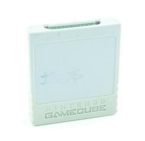 Carte Mémoire Gamecube Officielle 59 blocks Nintendo Game Cube