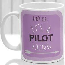 TAZZA cosa pilota, ideale per qualsiasi pilota (Rosa)