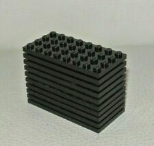 Lego : lot 10x plaque 4 x 8 - réf 3035 noir - set 10030 10183 10131 6089 7019