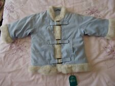 Mothercare baby boy girl warm quilted faux fur detail faux suede coat 6-9m nwt