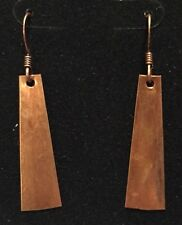 Hammered Copper Earrings Very Light Hangin