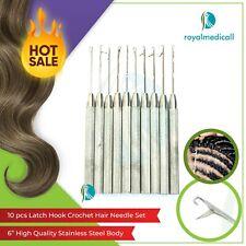 Crochet Latch Hook Skill Needle for Hair/ Micro Braid Needle Dread Lock 10pc