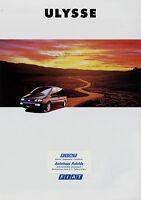 Prospekt Fiat Ulysse 9/94 8 S. brochure 1994 Autoprospekt Auto PKWs Broschüre