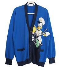 ICEBERG Disney Vintage 1992 Donald Duck Cardigan 100% Cotton Blue Size 4 US XL