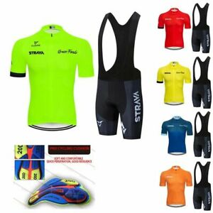 Cycling Jersey Bib Shorts Bike Maillot Short Sleeve Bicycle Shirt Tops For Men