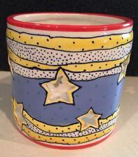 Blue Sky Clayworks • Med/Large Candle Candleholder • By Diane •