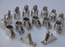 """Stainless Steel Hardware Fittings Set of 7/8"""" 4 Bow Bimini Top 16 pieces"""