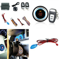 Car Audible and Visual Alarm System Kit Engine Ignition Starter Button Remote 1x