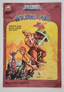 "1983 Masters of the Universe ""Sticker Fun"" Golden Book"