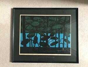"Kiyoshi Saito (1907-1997) Japanese Woodblock Print ""Blue Marsh, Ura-bandai Aizu"""