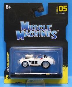MUSCLE MACHINES #05 - 1964 SHELBY COBRA #98 WHITE MAISTO