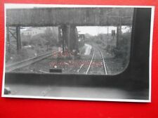 PHOTO  GARSCADDEN RAILWAY STATION FROM WEST 1/7/87 VIEW FROM CAB