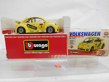 """eso-9585Bburago 1:43 Volkswagen Käfer """"New Beetle Cup"""""""