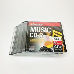 MEMOREX MUSIC CD-R Discs 9-Pack (16xMulti Speed/700 MB/80 min) New-Sealed