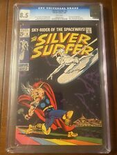SILVER SURFER #4 2/69 CGC 8.5 WHITE PAGES LOW RUN THOR CROSSOVER HIGH GRADE KEY!