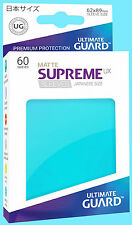 60 ULTIMATE GUARD SUPREME UX MATTE AQUAMARINE JAPANESE Card SLEEVE Protector