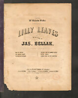 LAST ROSE OF SUMMER Bellak 1854 Piano Solo Antique Sheet Music