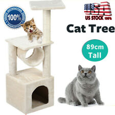 """New listing Deluxe 36"""" Cat Tree Condo Play Toy Scratch Post Cat Pet Tree Furniture House"""