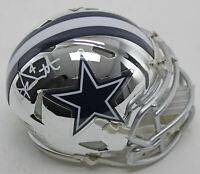 Cowboys Dak Prescott Authentic Signed Chrome Speed Mini Helmet BAS Witnessed