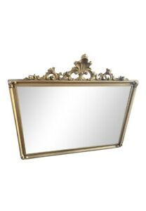 Antique Mirror. French Regency. Mantle Mirror. Wall Mirror. Gold Frame