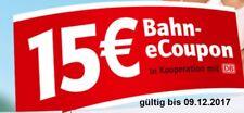 15 Euro Rabatt Code, Deutsche Bahn Coupon, Gutschein, Ticket, ICE