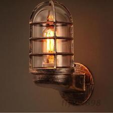 Loft Industrial Retro Wall Lamp Light Sconce Glass Fixtures Living Bedroom Decor