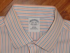 BROOKS BROTHERS SLIM FIT NON IRON BUTTON FRONT SHIRT 15.5/ 32