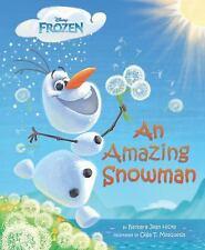 DISNEY FROZEN - AN AMAZING SNOWMAN - OLAF - NEW LARGE HARDCOVER w/DJ - FREE SHIP