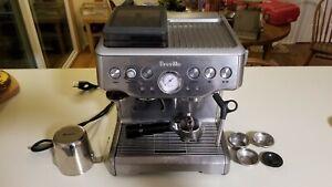 Breville Barista Express BES860XL 2 Cups Espresso Machine Silver Grinder NICE