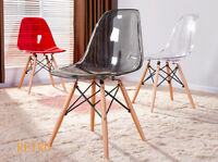 Dining clear Eiffel  chairs retro