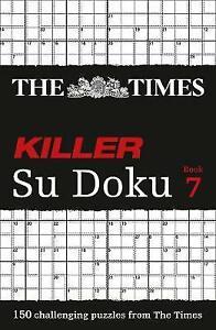 The Times Killer Su Doku Book 7, Puzzler Media, Very Good condition, Book