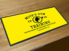 Mick's Gym yellow Training Rocky Movie Memorabilia Bar runner pubs clubs
