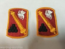 Lot of 2 U.S Army 113TH SUSTAINMENT BRIGADE Patch Patches Class A Unifrom Cannon