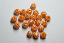 Free shipping 8mm New mix colourLUSTER stripes resin round 50pcs beads F007