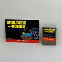 Boulders & Bombs (Atari 400 / 800 / XL / XE, 1980) CART + MANUAL! TESTED! CLEAN!