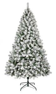 Premier 1.5M Flocked Woodcote Spruce Christmas Tree