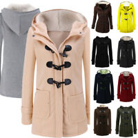 Womens Warm Trench Parka Hooded Coat Jacket Tops Outwear Winter Ladies Overcoat