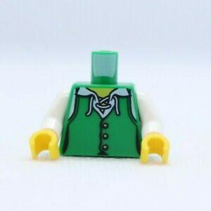 TORSO -Female Pirate Vest with White Undershirt, Laces NEW LEGO® Minifigure Part