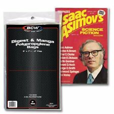 BCW Digest & Manga Poly Bags Pack of 100 Acid Free Safe Storage Holders 2 Mil